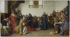Anton von Werner (1843–1915) https://commons.wikimedia.org/wiki/File:Luther_at_the_Diet_of_Worms.jpg
